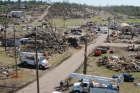 Devestation from tornadoes in Alabama