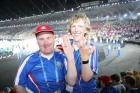 Gudmundur and Aslaug celebrate their engagement at Special Olympics World Summer Games ATHENS 2011 Opening Ceremony on Saturday June 25th