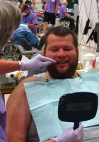 Roy Lehmann was among the Special Olympics athletes from Wisconsin to receive free dental care at a local Mission of Mercy event. Photo courtesy of the Wisconsin Dental Association.