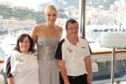Special Olympics Global Ambassador H.S.H. Princess Charlene of Monaco, Special Olympics Monaco Athletes Sandra Franco & Philippe Calmes