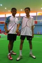 Athletes Salihin bin Sinai (left) and Mohd. Rausyan