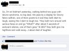 Facebook Post screen capture