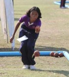 A Special Olympics Thailand athlete competes at their National bocce championship in December