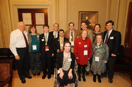 Senator Steny Hoyer of Maryland with Special Olympics Maryland and Vermont athletes and guests.
