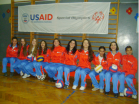 The Unified Girls' volleyball team in Krusevac, Serbia