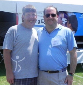 Dr. Ackerman (right) with athlete leader Dustin Plunkett