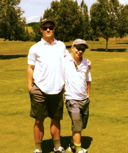 The Siler brothers on the course for Special Olympics regionals in 2014.  Says Todd of Tim teaching him the sport,