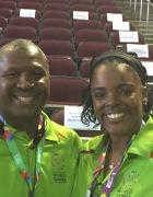 Larry and Malori Gholar at LA2015 Basketball