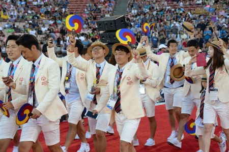 Special Olympics Korea delegation