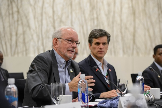 UNICEF Executive Director Anthony Lake and Special Olympics Chairman Timothy P. Shriver